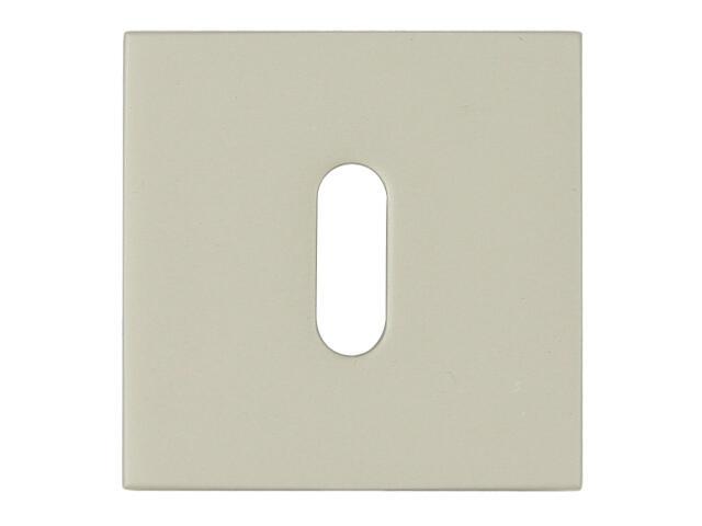 Szyld drzwiowy kwadratowy KWADRAT-QR klucz nikiel satyna velvet TUPAI