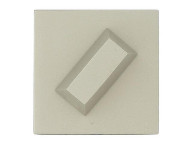 Szyld drzwiowy kwadratowy KWADRAT-QR nikiel satyna velvet TUPAI