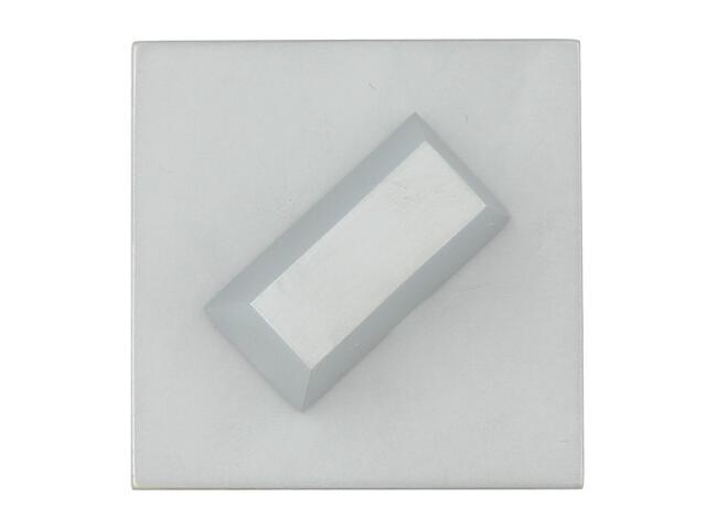 Szyld drzwiowy kwadratowy KWADRAT-QR WC chrom satyna velvet TUPAI