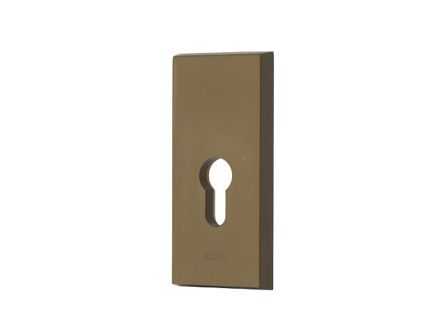 Szyld drzwiowy zewn. prostokątny NOTE wkładka bębenkowa brąz mat klasa III AXA