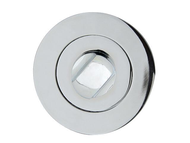 Szyld drzwiowy okrągły ORO-R WC chrom lakierowany ORO&ORO