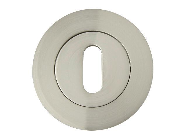 Szyld drzwiowy okrągły ORO-R klucz nikiel lakierowany ORO&ORO