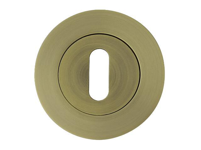 Szyld drzwiowy okrągły ORO-R klucz brąz grafiatto mat ORO&ORO