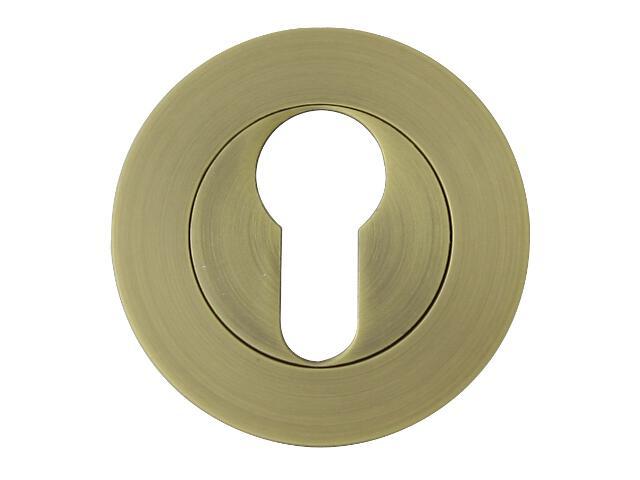 Szyld drzwiowy okrągły ORO-R wkładka bebenkowa brąz grafiatto mat ORO&ORO
