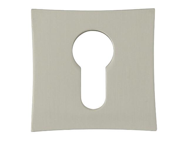 Szyld drzwiowy kwadratowy ORO-QR wkładka bębenkowa nikiel lakierowany ORO&ORO