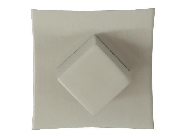 Szyld drzwiowy kwadratowy ORO-QR WC nikiel lakierowany ORO&ORO