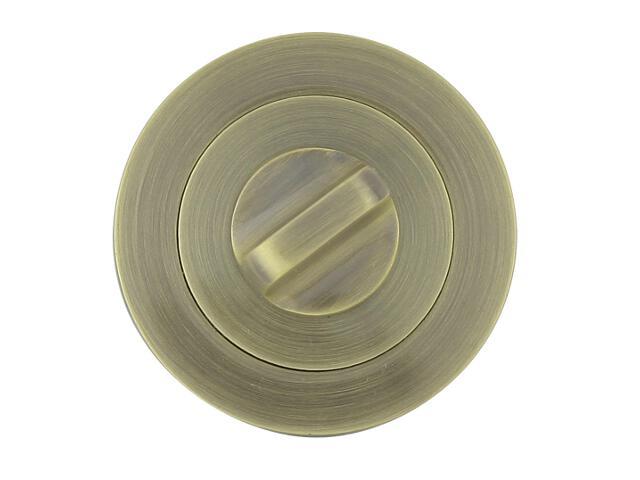 Szyld drzwiowy okrągły 001 WC brąz grafiatto Yale