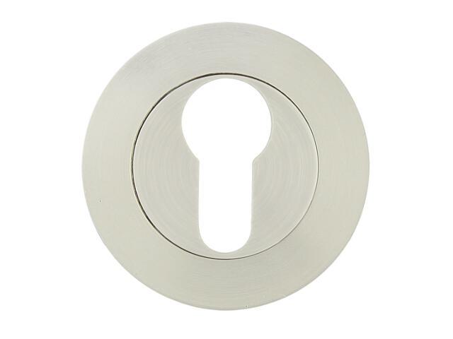 Szyld drzwiowy okrągły 001 wkładka bebenkowa nikiel lakierowany Yale