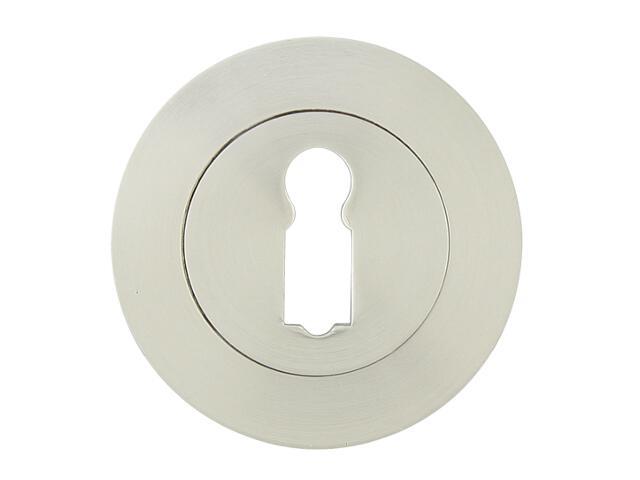 Szyld drzwiowy okrągły 001 klucz nikiel lakierowany Yale