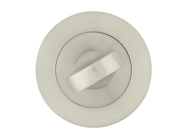 Szyld drzwiowy okrągły 001 WC nikiel lakierowany Yale