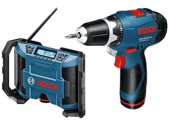 Wiertarko-wkrętarka GSR 10,8-2-Li 2x1,3Ah LB + GML 10,8 V-LI 601429201 Bosch