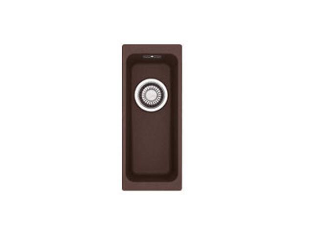 Zlewozmywak granitowy Kubus KBG 110-16 ciemny brąz 125.0158.568 Franke