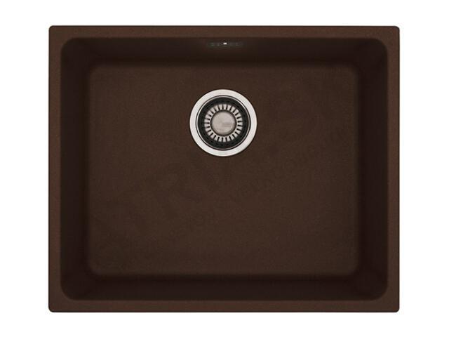 Zlewozmywak granitowy Kubus KBG 110-50 ciemny brąz 125.0250.159 Franke