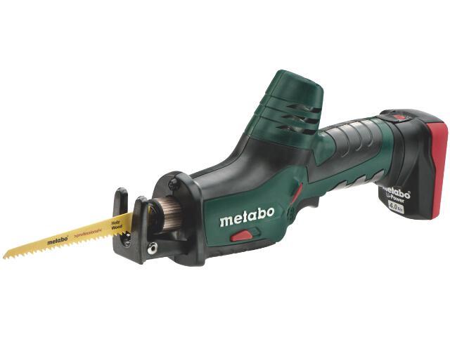 Pilarka szablasta akumulatorowa PowerMaxx ASE 2x4,0Ah z walizką Metaloc 10,8V Metabo