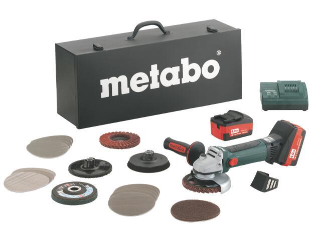 Szlifierka kątowa akumulatorowa W 18 LTX 125 Inox Set Li-Ion 18V/4,0Ah z walizką Metabo