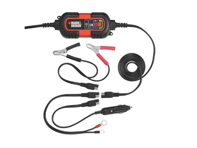 Automatyczna ładowarka podtrzymująca 1A, 6V/12V, 3 rodzaje końcówek BDV090 Black&Decker
