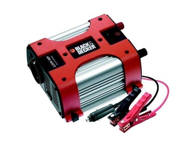 Przetwornik 12V/230V, 400W, 1 port USB, 1 port AC, BDPC400 Black&Decker