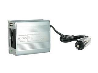 Przetwornica samochodowa DC 12VAC 230V 100W + USB 06574 Whitenergy