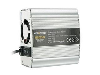 Przetwornica samochodowa DC 12VAC 230V 150W + USB 06575 Whitenergy