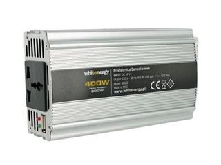 Przetwornica samochodowa DC 24VAC 230V 500W + USB 06582 Whitenergy