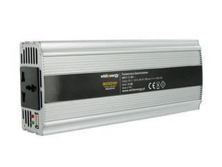 Przetwornica samochodowa DC 12VAC 230V 800W + USB 06585 Whitenergy