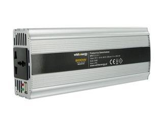 Przetwornica samochodowa DC 24VAC 230V 800W + USB 06586 Whitenergy
