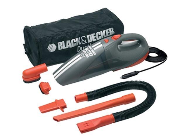 Odkurzacz samochodowy 12V poj. 700ml, funkcja Cyclonic 800 l/min ACV1205 Black&Decker