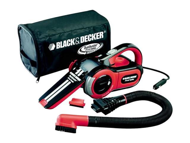 Odkurzacz samochodowy 12V poj. 350ml, funkcja Cyclonic 859 l/min PAV1205 Black&Decker