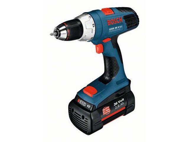 Wiertarko-wkrętarka GSR 36 V-LI 2x2,6Ah bez akumulatorów i ładowarki 601912100 Bosch