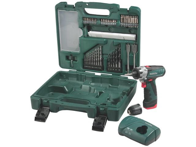 Wiertarko-wkrętarka PowerMaxx BS Mobile Workshop LC 40 z walizką 10,8V Metabo