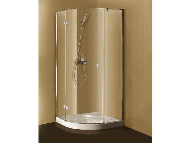 Kabina prysznicowa półokrągła Metropolis Rondo i brodzik Castylia 90 white PB3000053 Poolspa