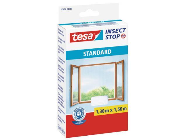 Moskitiera okienna Standard przeciw owadom 1,3x1,5m biała Tesa Tape