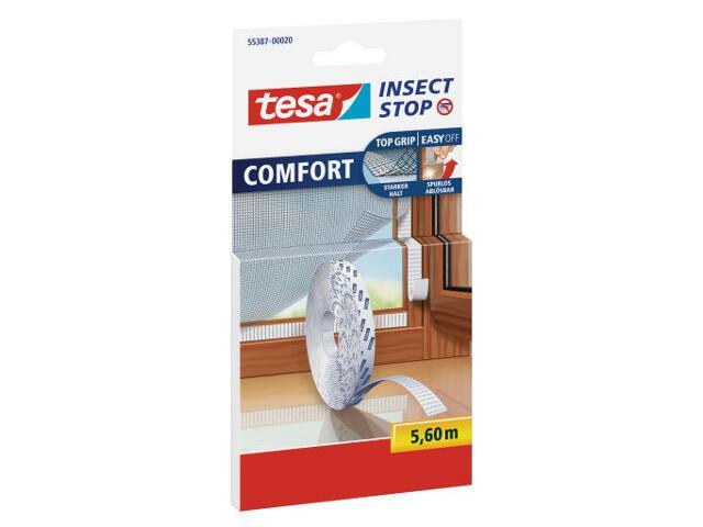 Rzep do mocowania siatek przeciw owadom COMFORT 5,6m biała Tesa Tape
