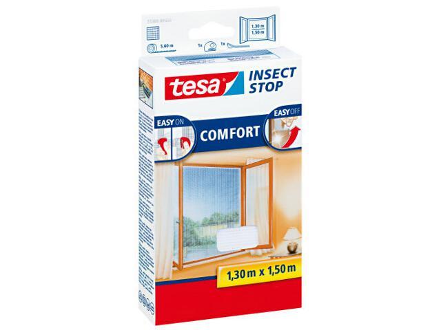 Moskitiera okienna przeciw owadom Comfort 1,3x1,5m biała Tesa Tape
