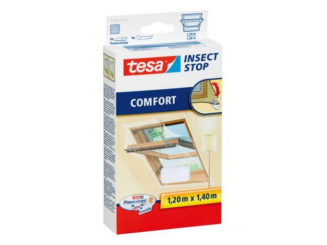 Moskitiera Comfort do okien dachowych 1,3x1,5m biała Tesa Tape