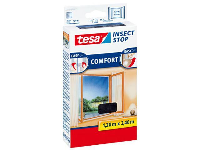 Moskitiera do wysokich okien Comfort 1,2x2,4m czarna Tesa Tape