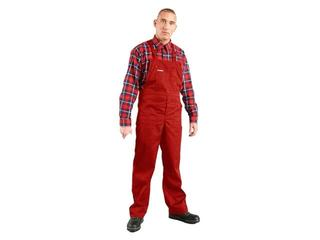 Spodnie robocze MASTER SM C rozm. 60 czerwony REIS