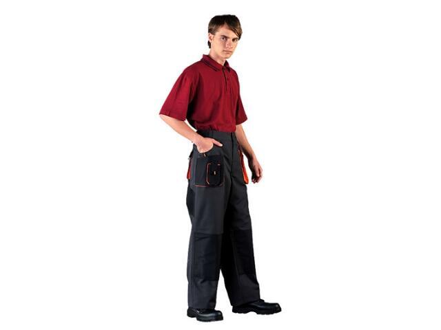 Spodnie robocze LH-CANVER BP rozm. 48 czarno-pomarańczowy LEBER&HOLLMAN