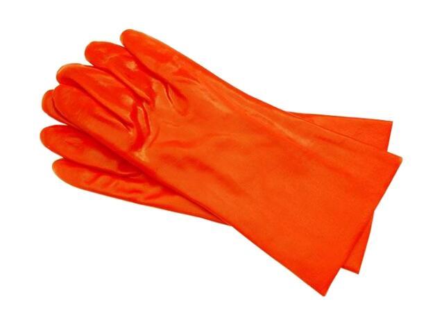Rękawice powlekane PCV z mankietem 35cm REIS