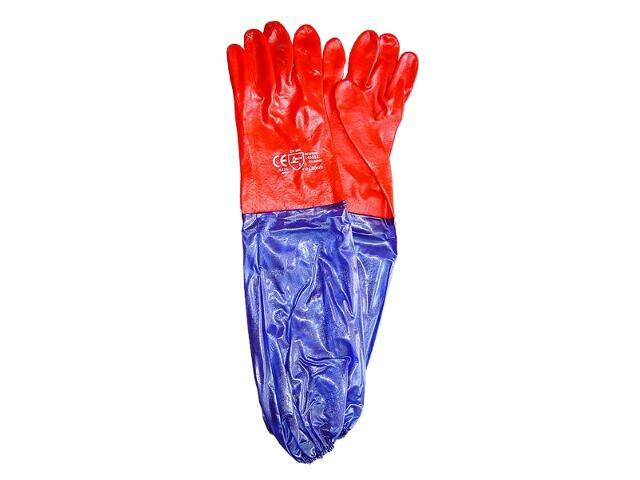 Rękawice powlekane PCV z rękawem 60cm RPCV60 REIS