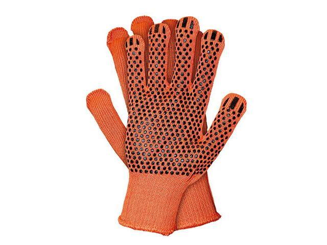 Rękawice powlekane nakrapiane PCV RDZFLAT rozm. XL REIS