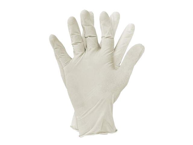 Rękawice jednorazowe latexowe bezpudrowe rozm. S op. 100szt. REIS