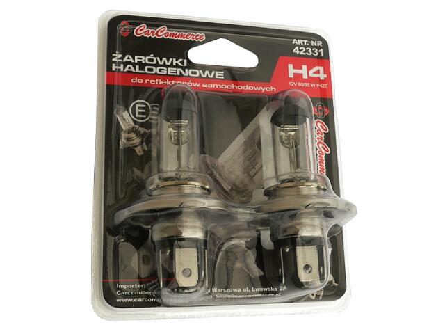 Zestaw żarówek H4 12V 2szt. CarCommerce