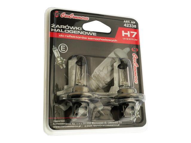 Zestaw żarówek H7 12V 55W 2szt. CarCommerce