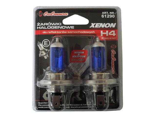 Zestaw żarówek XENON H4 12V 60/55W P43 2szt.-blister CarCommerce