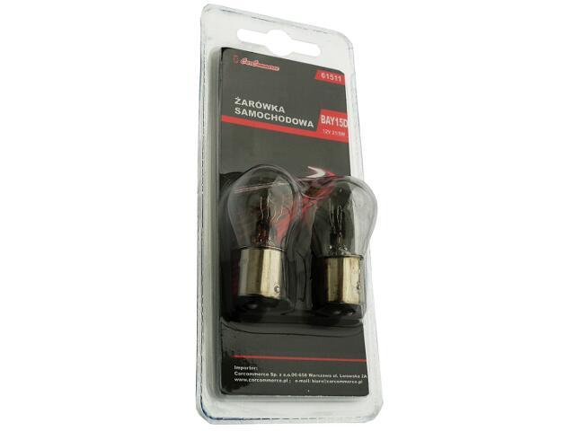 Zestaw żarówek 12V 21/5W BAY15d 2szt.-blister CarCommerce
