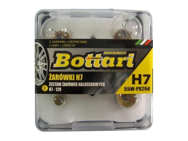 Zestaw żarówek z żarówką halogenową H7 Bottari