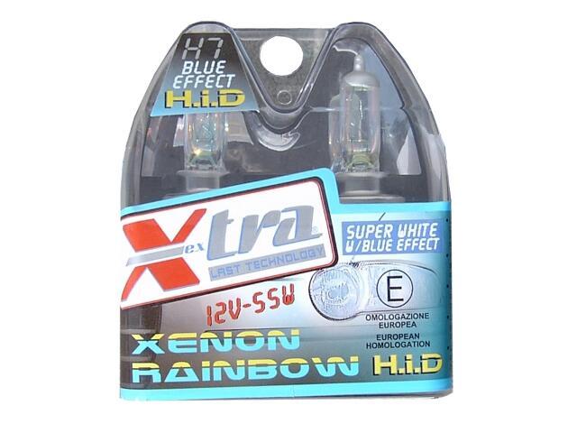 Zestaw żarówek H7 Xenon Rainbow Blue 60/55W 2szt Xextra