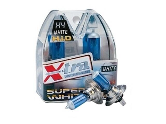 Zestaw żarówek H4 Super White 60/55W Xextra
