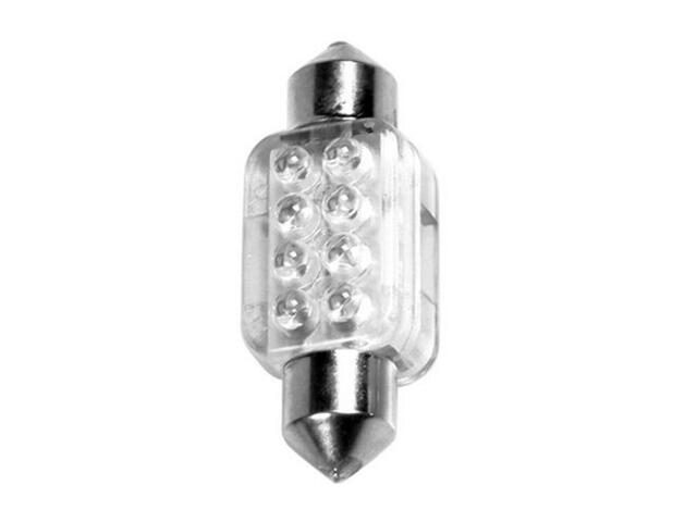 Żarówka LED do oświetlania wnętrza auta 10x36mm 8xLED czerwony 58430 Pilot